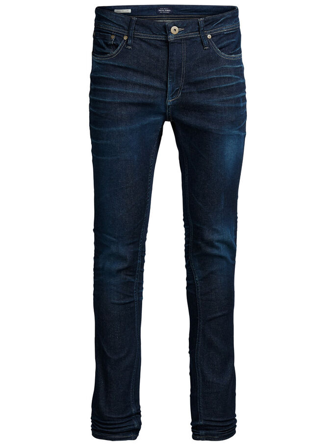 LIAM ORIGINAL JJ 972 SKINNY FIT JEANS, Blue Denim, large
