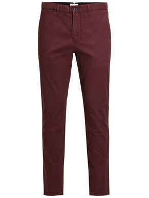 MARCO ENZO WW BURGUNDY CHINOS