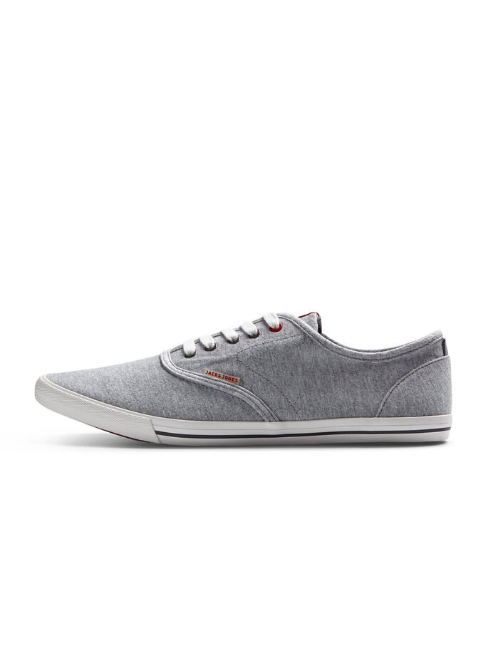 CANVAS TRAINERS, Light Grey Melange, large