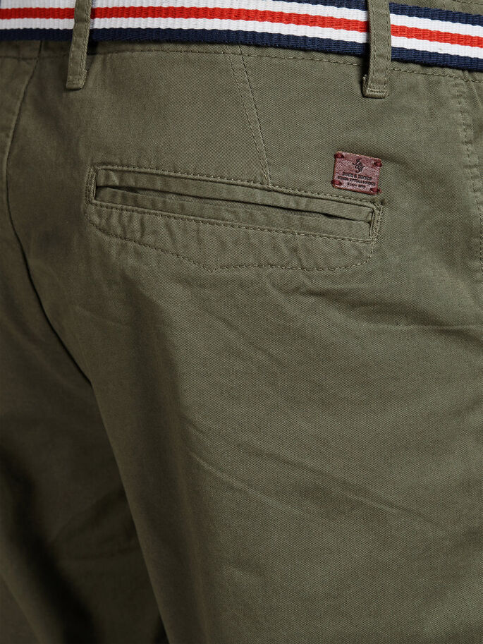 LORENZO LONG CHINO SHORTS, Burnt Olive, large