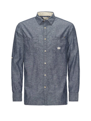 CHAMBRAY CASUAL OVERHEMD