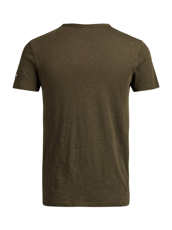BEDRUCKTES T-SHIRT, Olive Night, large