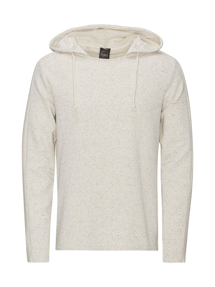 CASUAL SWEAT HOODIE, Treated White, large