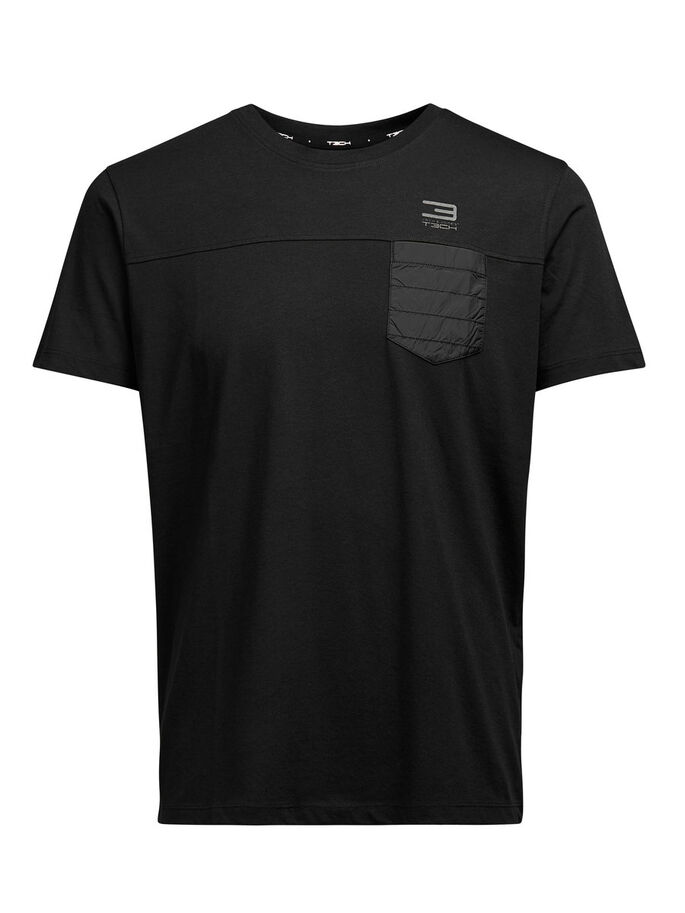 HYBRID T-SHIRT, Black, large