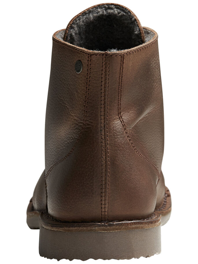 WARM LEATHER BOOTS, Brown Stone, large