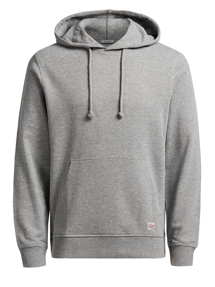 KAPUZEN- SWEATSHIRT, Light Grey Melange, large