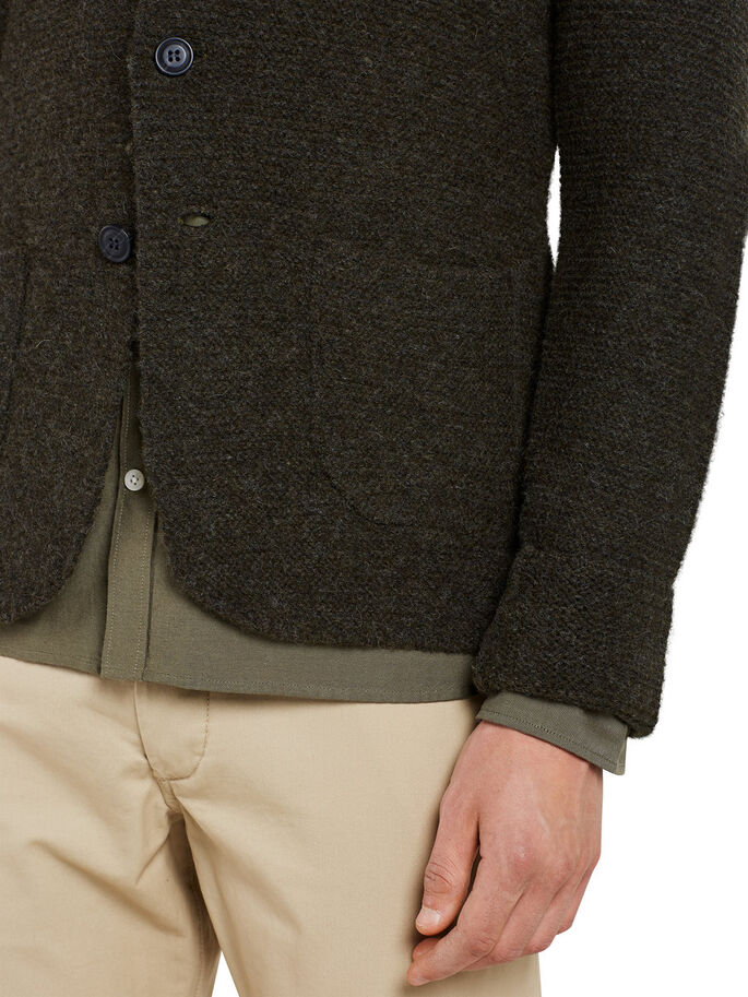 BLAZERSTIL CARDIGAN, Olive Night, large