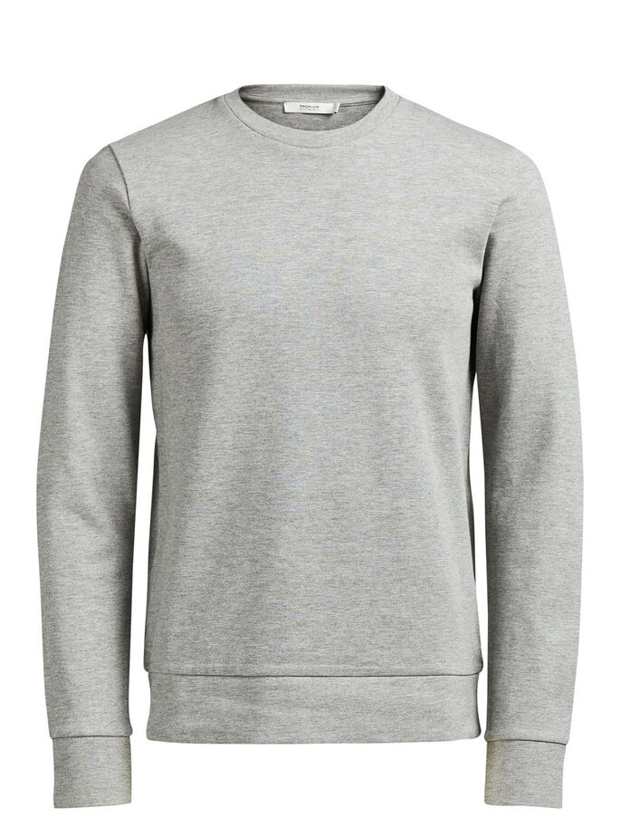 VEELZIJDIG SWEATSHIRT, Cool Grey, large