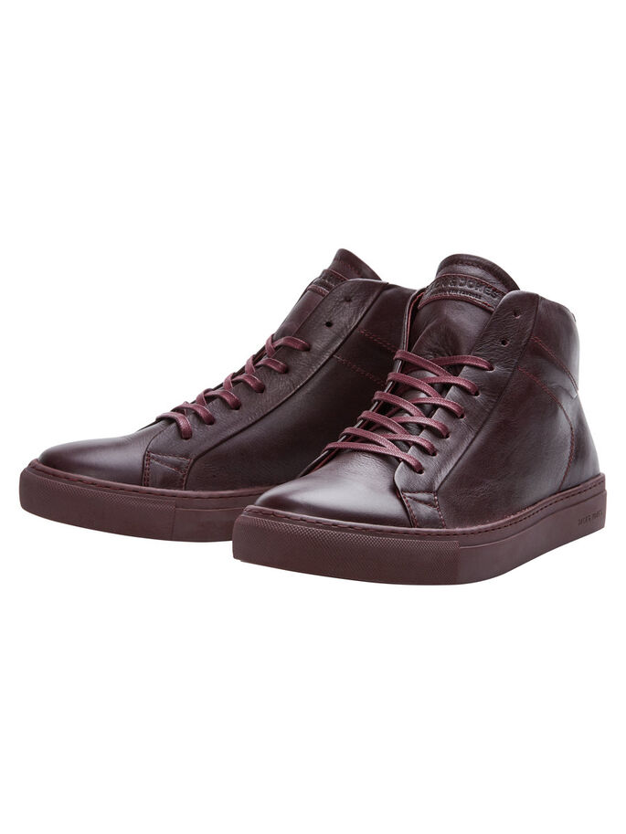 LEDER- SCHUHE, Oxblood Red, large