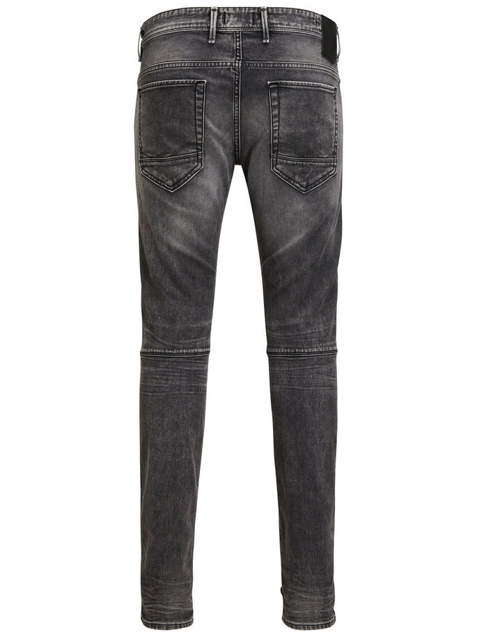 JJIGLENN JJJAX BL 704 INDIGO KNIT JEANS SLIM FIT, Grey Denim, large