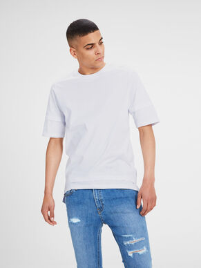 PRINTED SLIM FIT LONGER LINE T-SHIRT