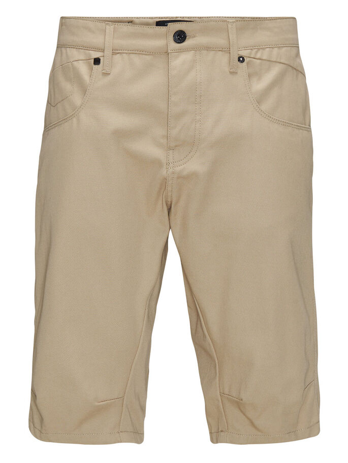 LONG CHINO SHORTS, Cornstalk, large