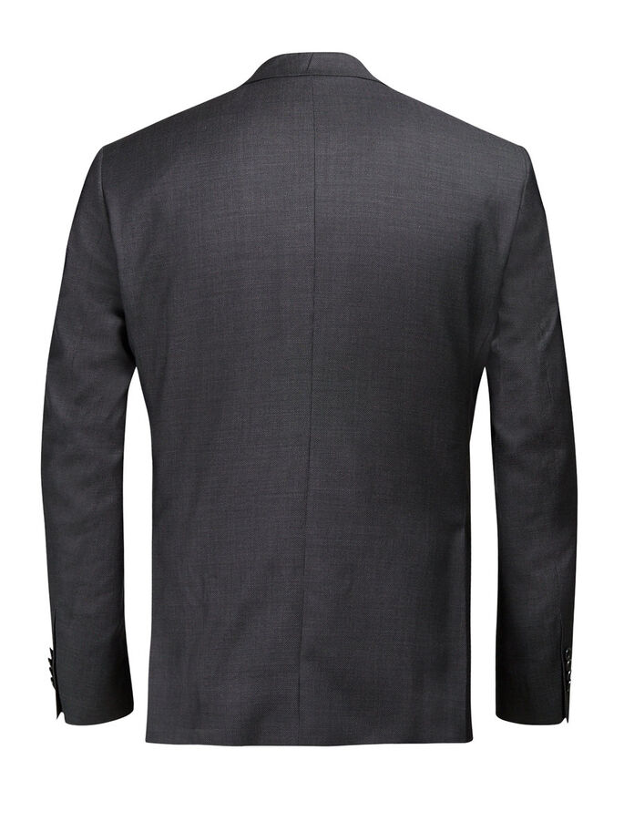 SUPER 110S WOOL BLAZER, Dark Grey, large