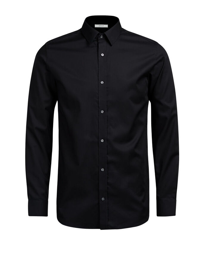BUTTON-UNDER LONG SLEEVED SHIRT, Black, large