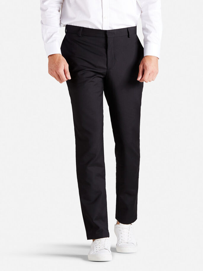 DE CORTE FORMAL PANTALONES, Black, large