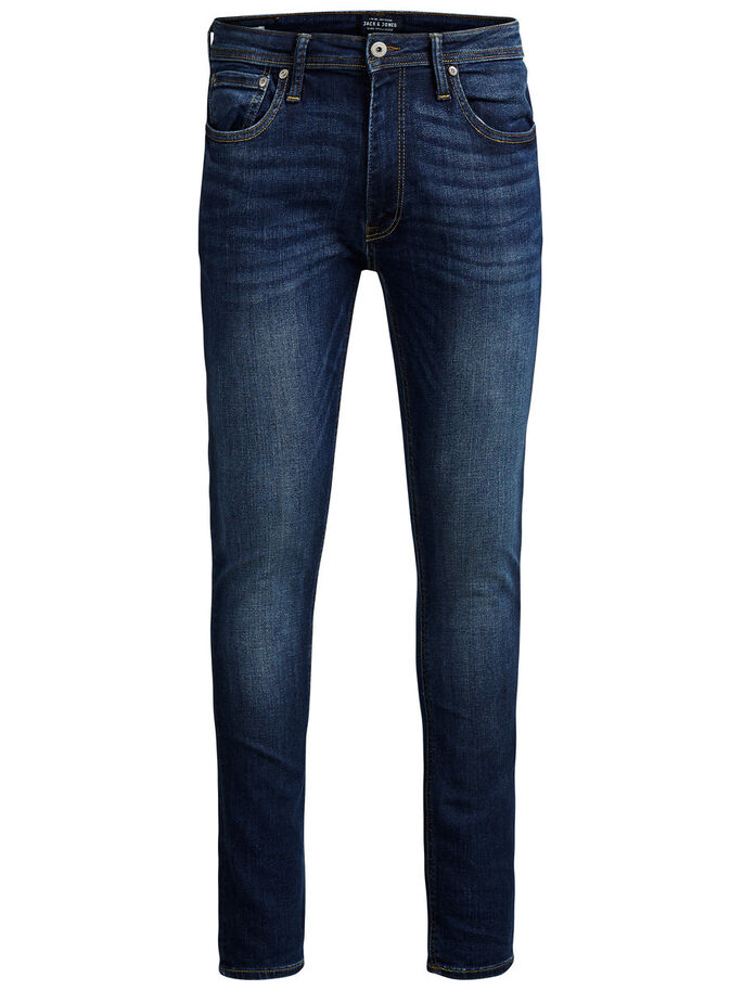 LIAM ORIGINAL AM 014 SKINNY FIT JEANS, Blue Denim, large