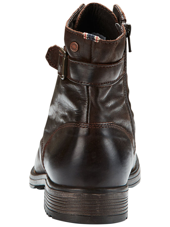 LEATHER BOOTS, Brown Stone, large