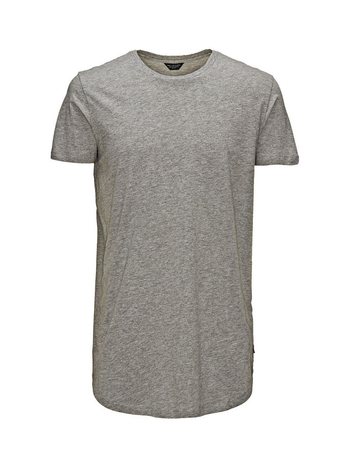LARGA Y SENCILLA CAMISETA, Light Grey Melange, large