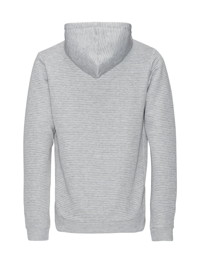 MÅNGSIDIG SWEATSYDD HOODIE, Light Grey Melange, large