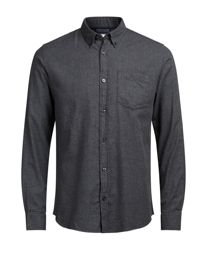 ABOTONADA CAMISA DE MANGA LARGA, Dark Grey, large