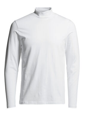 TURTLENECK T-SHIRT MET LANGE MOUWEN