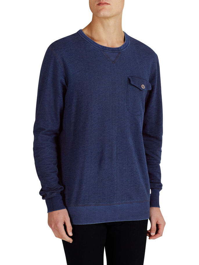 RØFF SWEATSHIRT, Mood Indigo, large