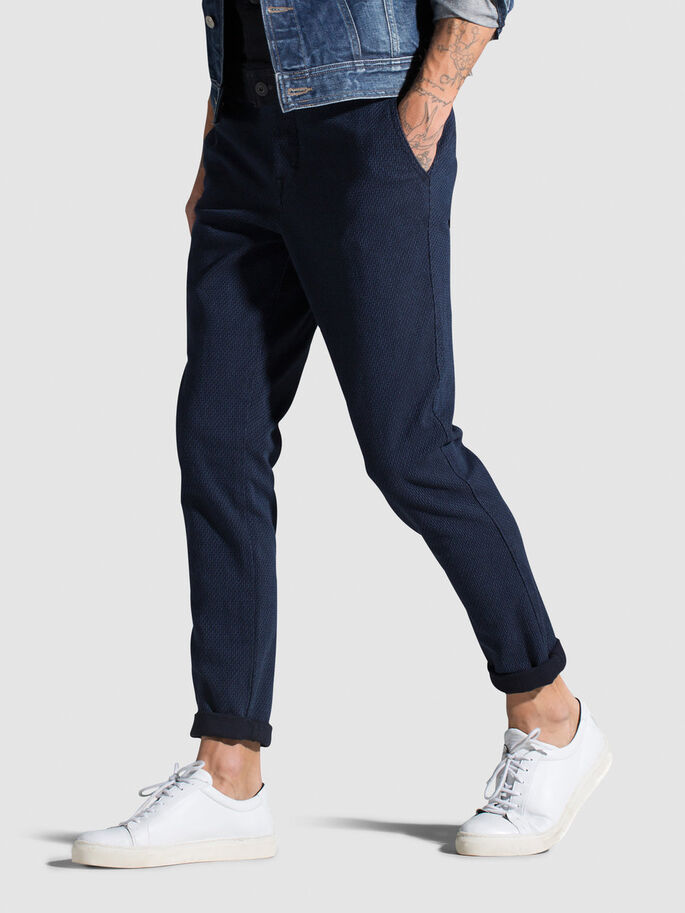 TWILL WEAVE CHINOS, Navy Blazer, large