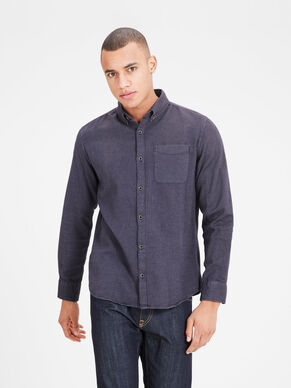 PATTERNED BUTTON-DOWN LONG SLEEVED SHIRT