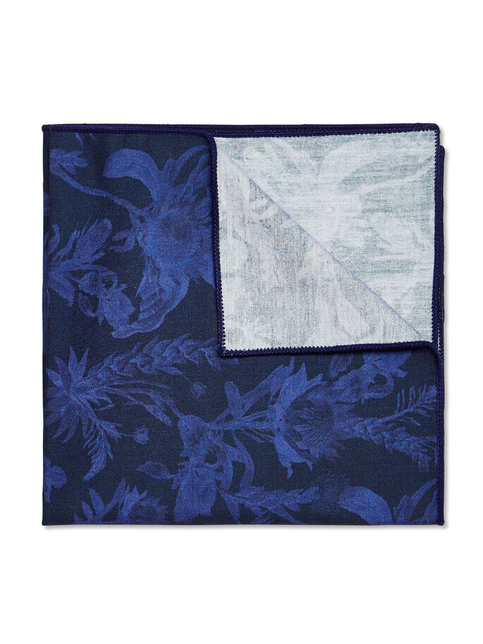 FLORAL HANDKERCHIEF, White, large
