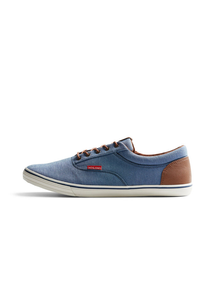 CANVAS SNEAKERS, Chambray Blue, large