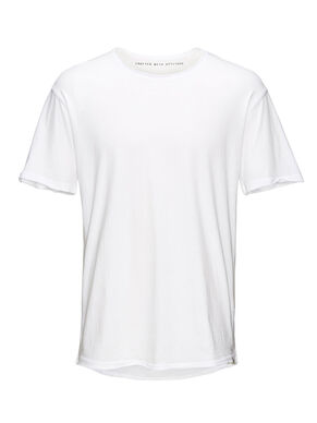 EINFARBIGES LONG-FIT- T-SHIRT