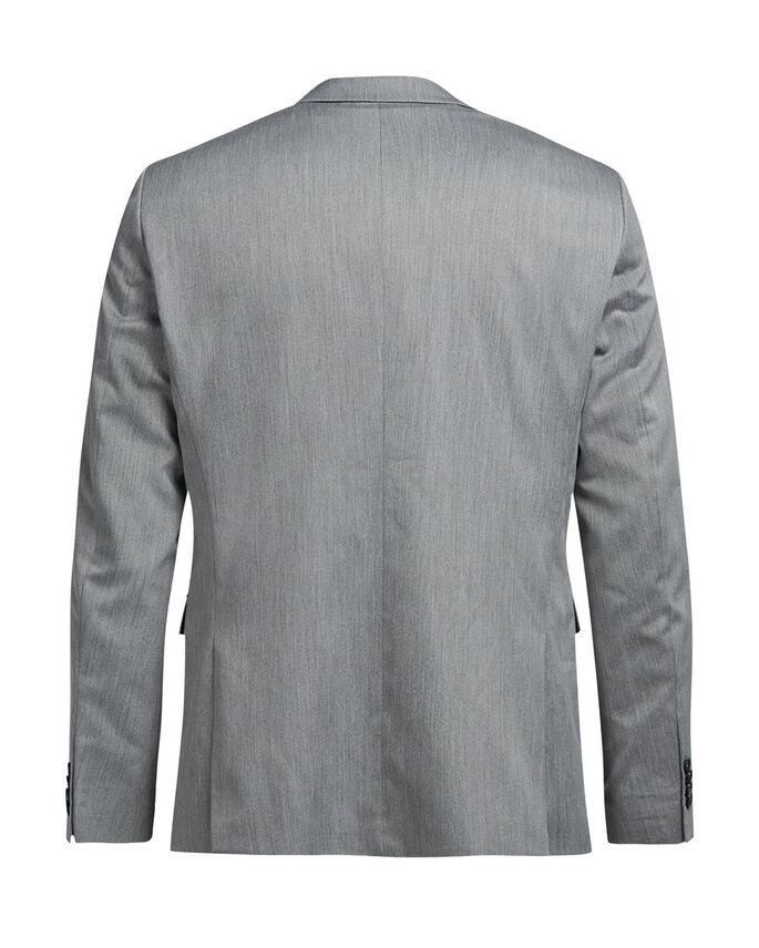 GRÅMELERAD KAVAJ, Light Grey Melange, large