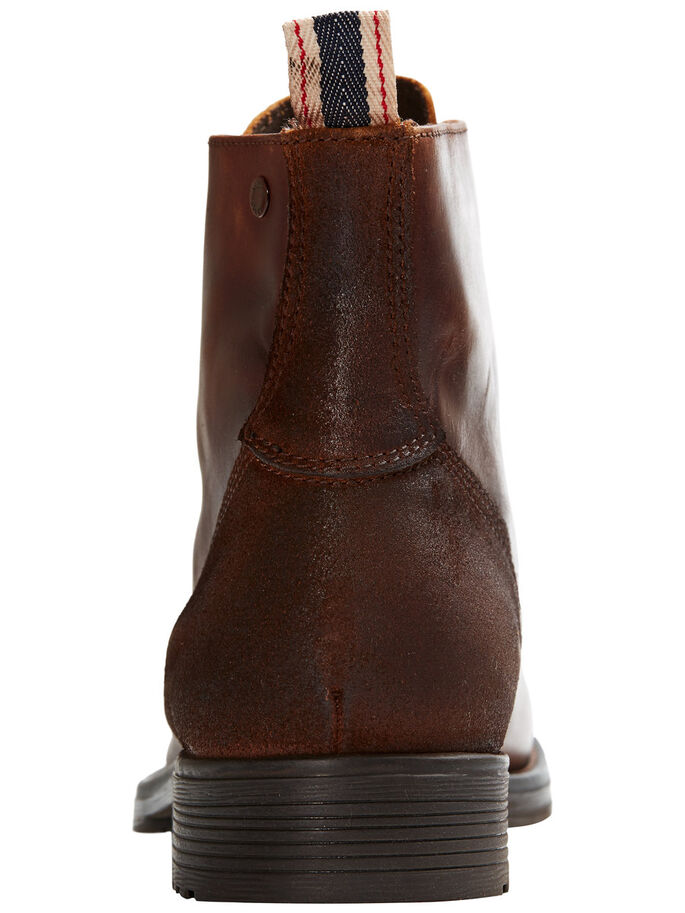 LEATHER BOOTS, Friar Brown, large