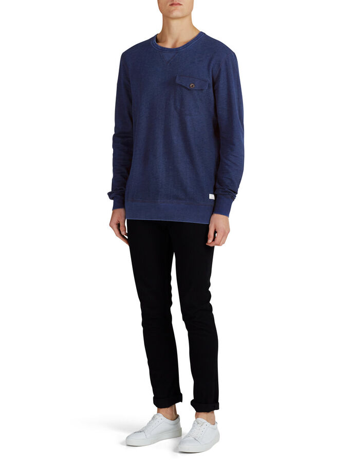 RUGGED SWEATSHIRT, Mood Indigo, large