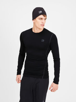 COMPRESSION T-SHIRT MET LANGE MOUWEN