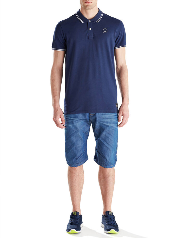 MORGAN JJ 850 LONG SHORTS EN JEAN, Blue Denim, large