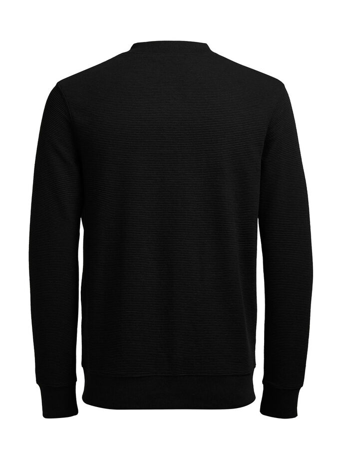 SWEAT ZIPPED SWEAT, Black, large