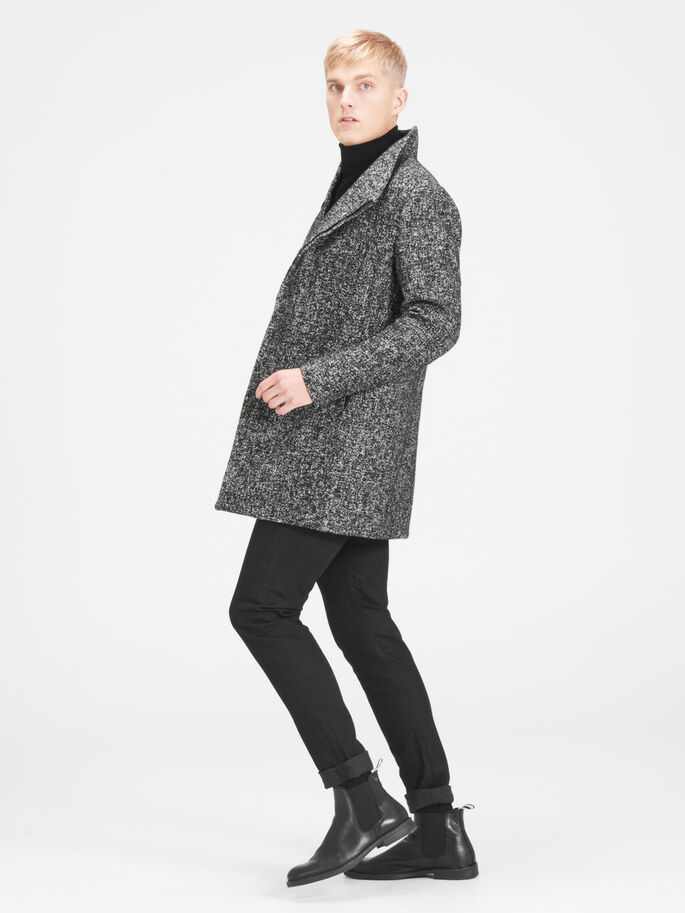 SHAWL NECK COAT, Asphalt, large