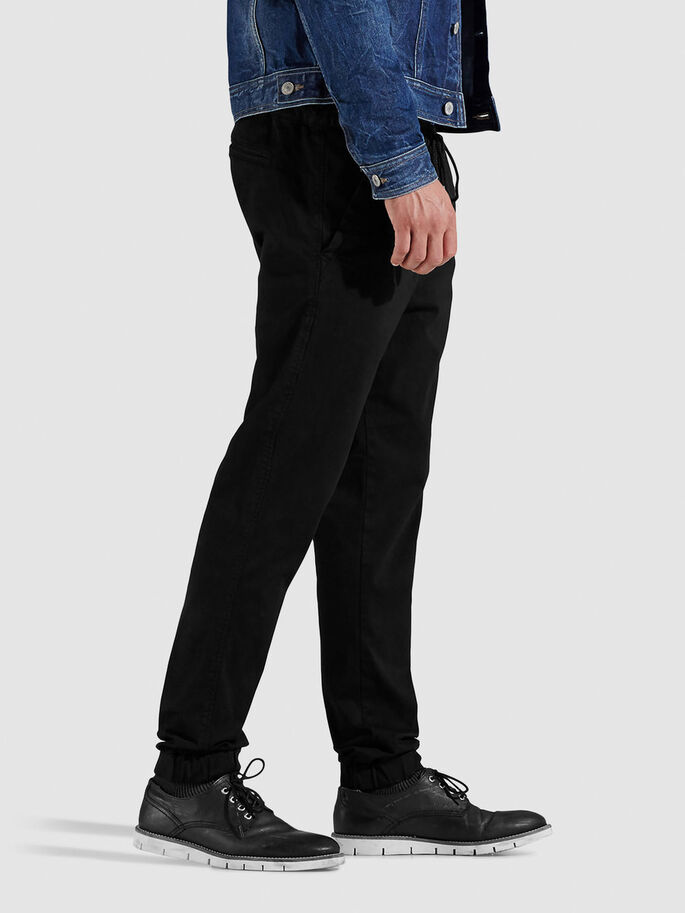 CASUAL DRAWSTRING TROUSERS, Black, large