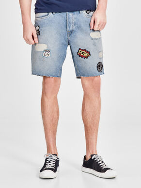 RICK JOS PATCH 158 STS DENIM SHORTS
