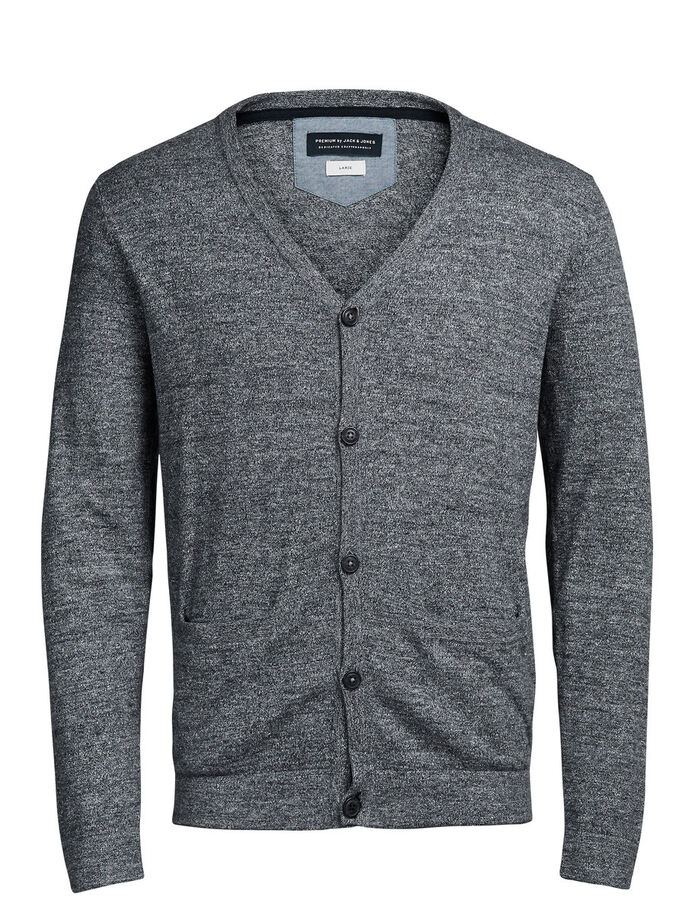 MELANGE CARDIGAN, Grey Melange, large