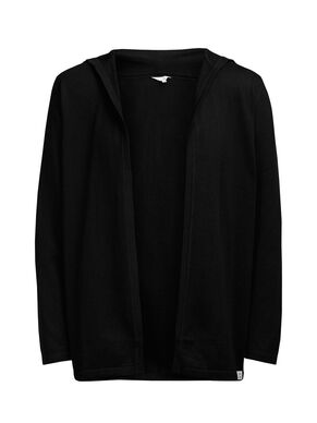 OPEN HOODED CARDIGAN