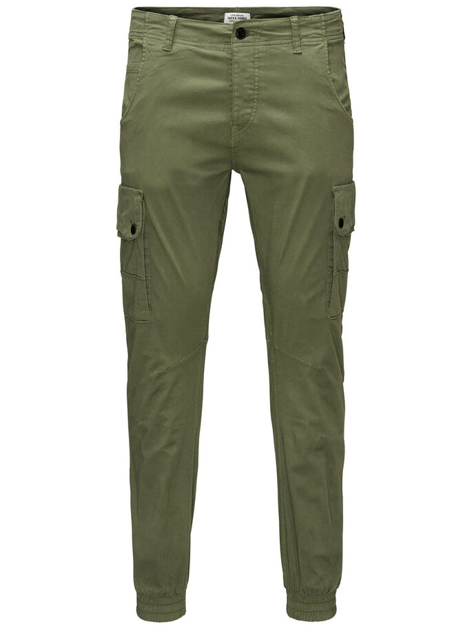 PAUL WARNER AKM 168 CARGO PANTS, Deep Lichen Green, large