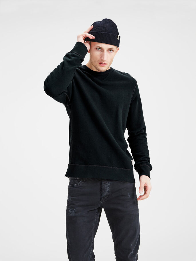RUGGED SWEATSHIRT, Caviar, large