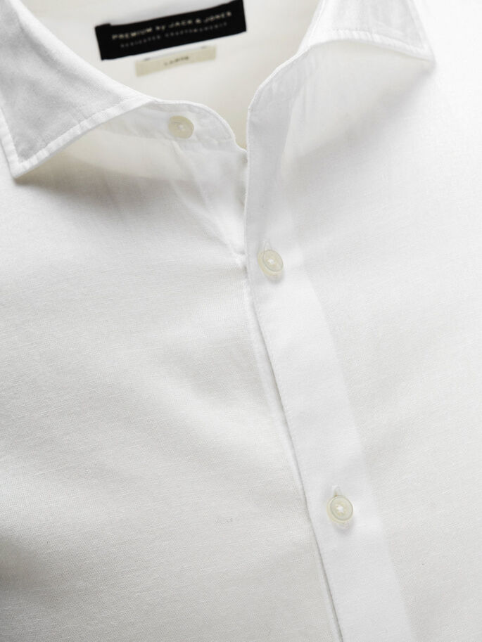 SPREAD COLLAR BUSINESS SHIRT, White, large