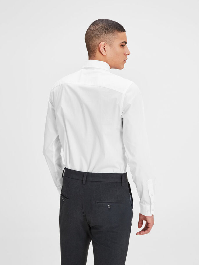 CUTAWAY COLLAR BUSINESS SHIRT, White, large