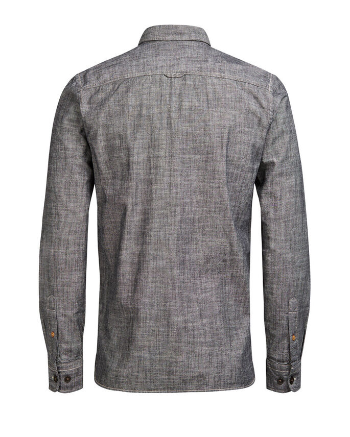 STRUCTURE LONG SLEEVED SHIRT, Caviar, large