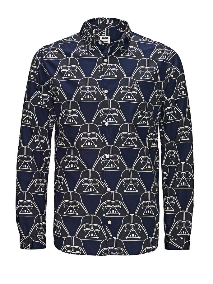 STAR WARS LONG SLEEVED SHIRT, Navy Blazer, large