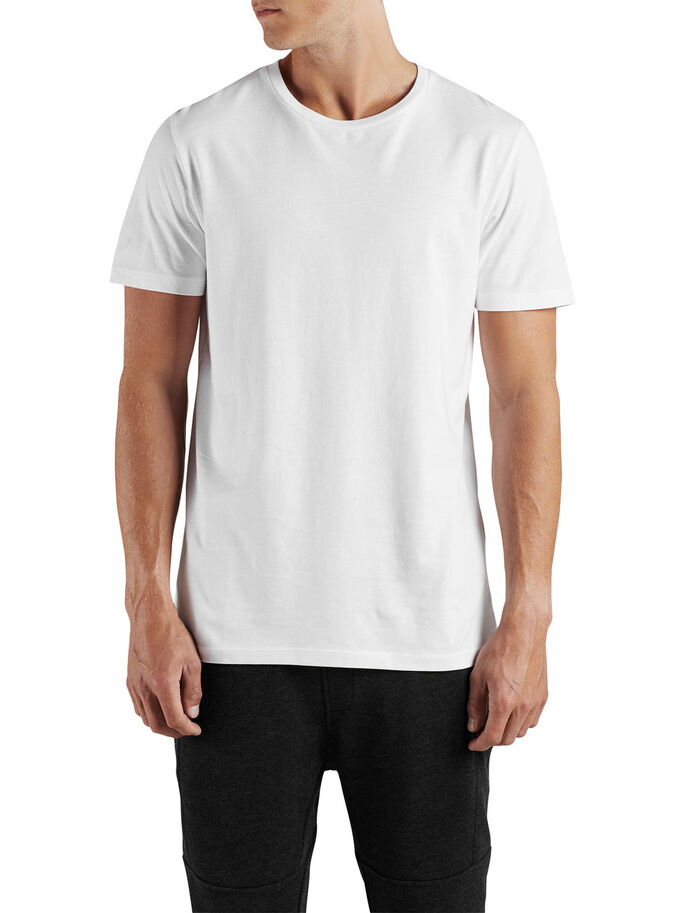 CASUAL T-SKJORTE, White, large