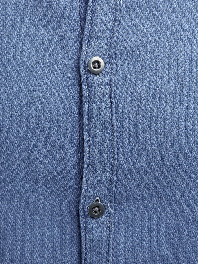 TINTO IN INDACO CAMICIA A MANICHE LUNGHE, Provincial Blue, large